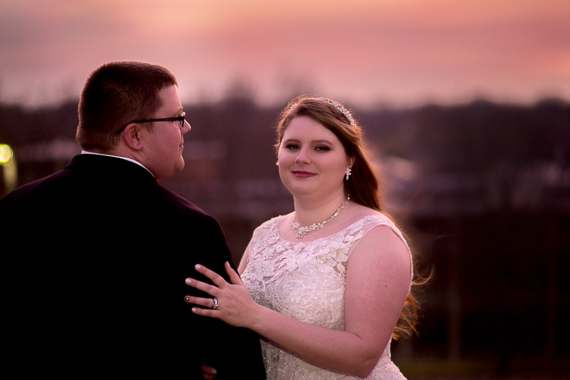 Emporia State University sunset wedding portraits