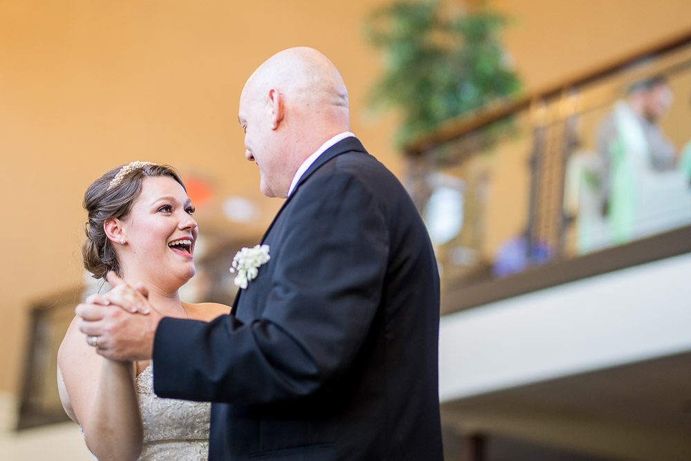 Topeka wedding photographer Great Overland Station father daughter dance