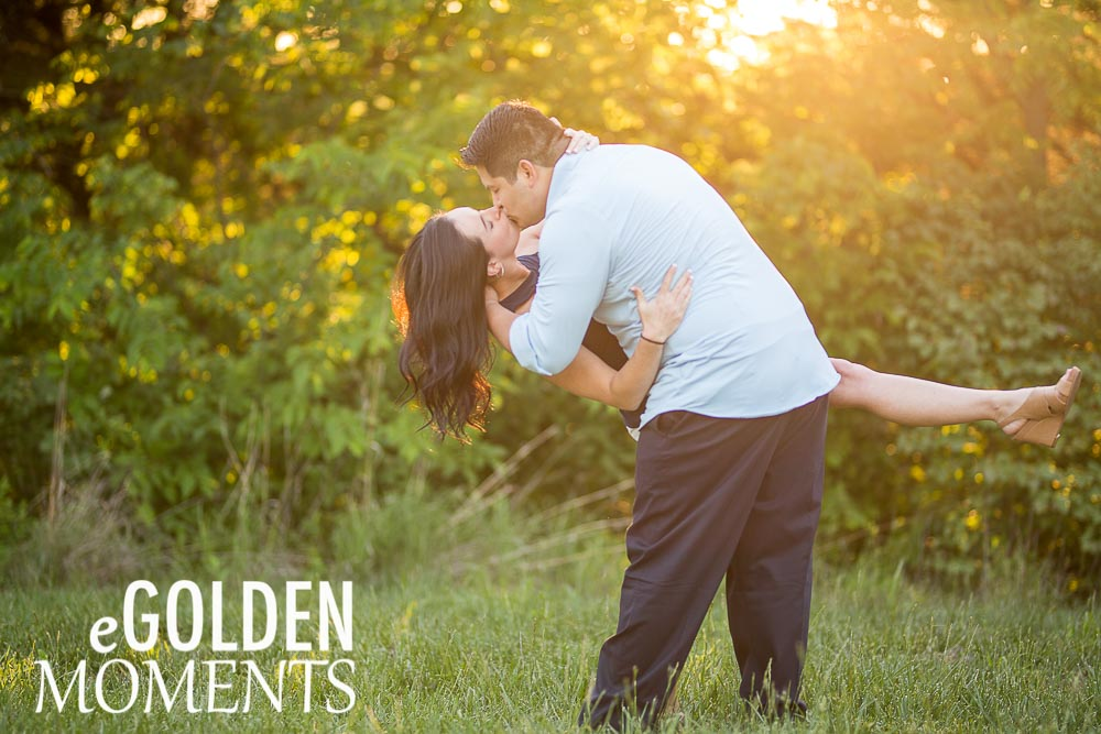 Wells Overlook Park Lawrence Kansas sunset engagement session