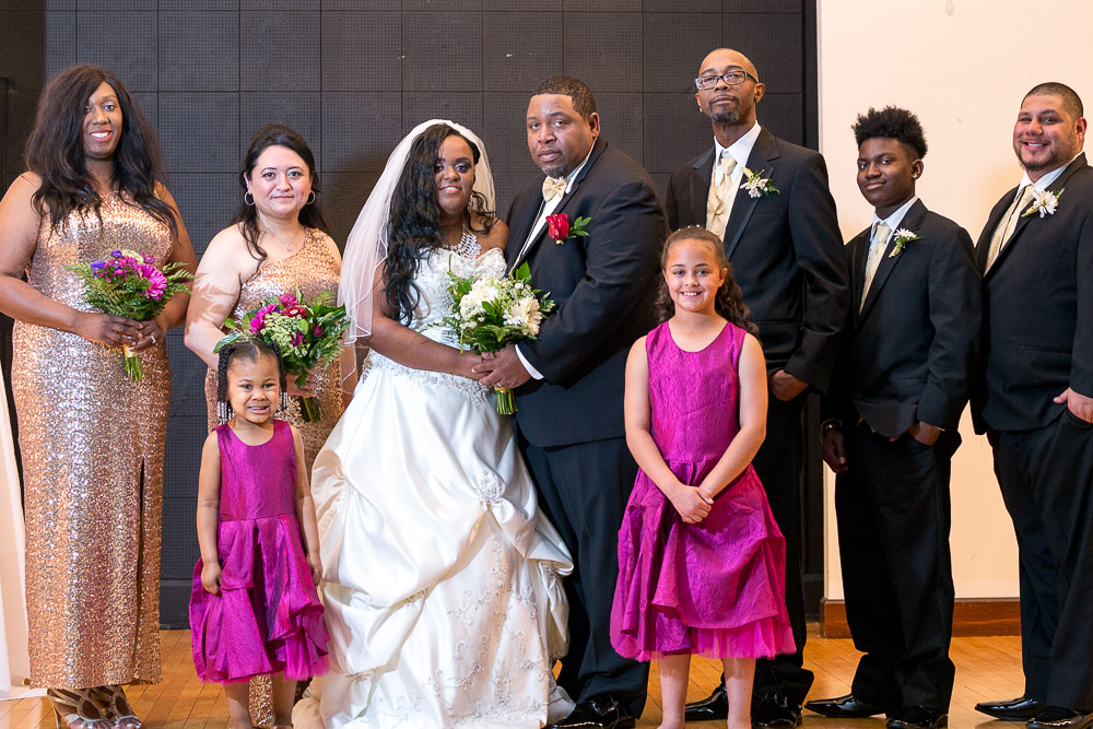 Topeka wedding photography 6th avenue ballroom bridal party formals