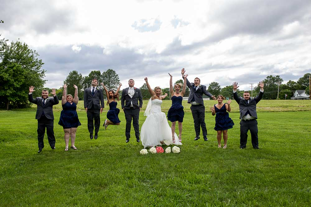 Bliss Plaza wedding photography bridal party jumping shot
