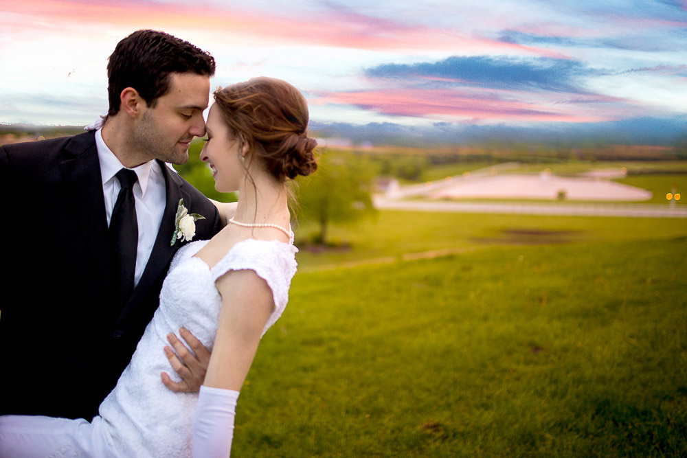 the hilltop at Berry Acres Odessa missouri wedding