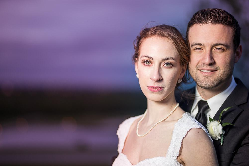 Hilltop at Berry Acres Odessa Missouri wedding sunset portrait