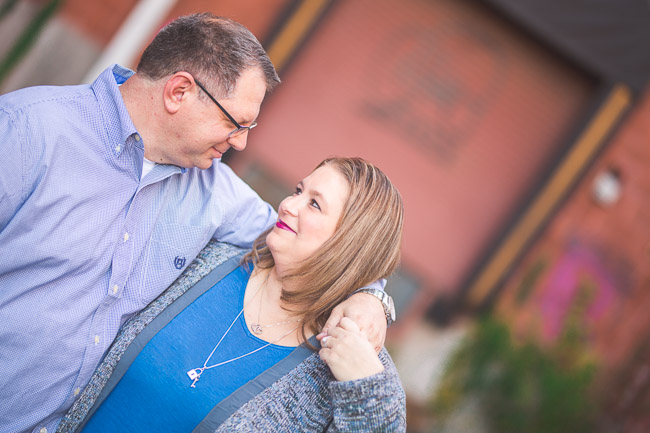Downtown Lawrence engagement session