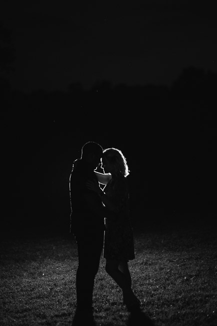 Loose Park Kansas City engagement session at night