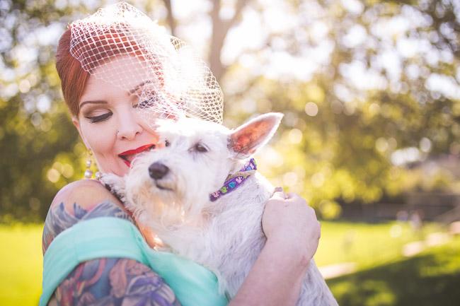 Dog ring bearer at wedding in Kansas City
