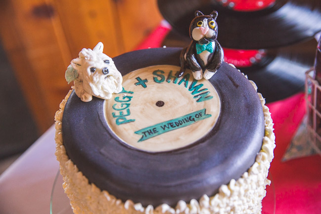 Unusual wedding cake Kansas City