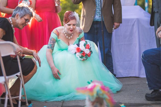 Dog ring bearer in Kansas City wedding