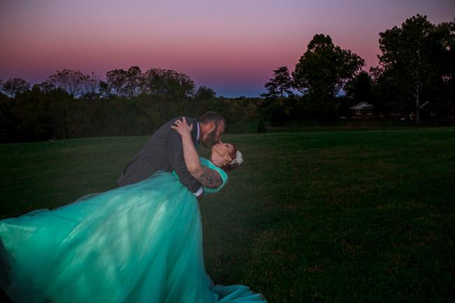 Sunset at Weatherby Lake Community Center Wedding