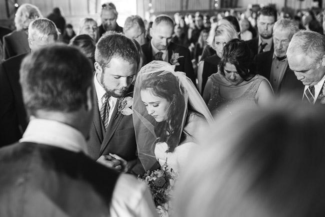 Pine Dell Horse Farm indoor wedding ceremony