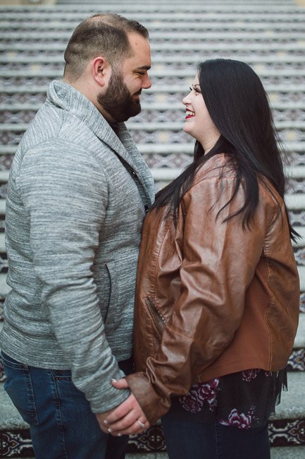 Plaza lights Kansas City winter engagement session