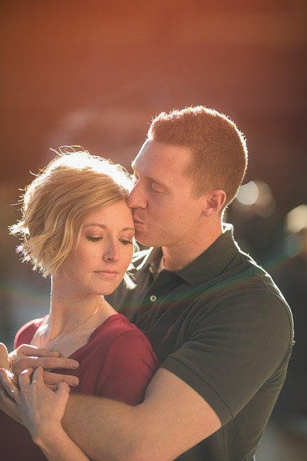 Kansas City Union Station winter engagement session