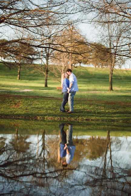 Shawnee Mission Park sunrise engagement session