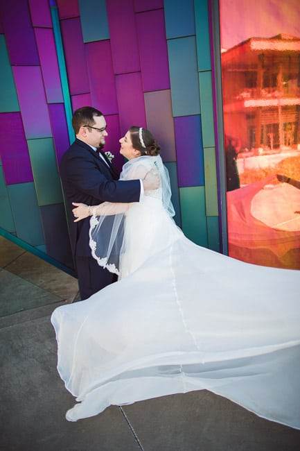 Wedding photography at the Prairie Fire Museum in Overland Park